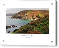 Acrylic Print featuring the digital art Portheras Cove by Julian Perry