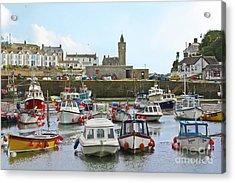 Porthleven Inner Harbour Acrylic Print