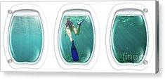 Porthole Windows On Coral Reef Acrylic Print