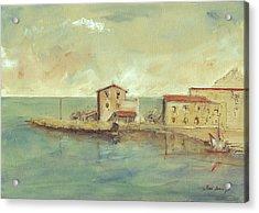 Porticello Santa Flavia  Seascape At Sicily Palermo Acrylic Print