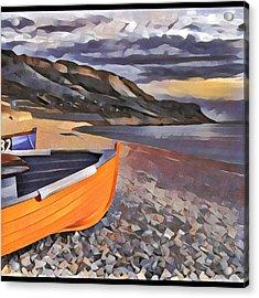 Portland Chesil Beach Acrylic Print