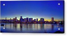 Portland Cityscape Acrylic Print