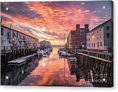 Portland Harbor Sunrise Acrylic Print