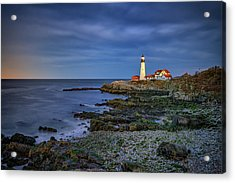 Acrylic Print featuring the photograph Portland Head Aglow by Rick Berk