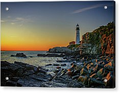 Portland Head Light At Dawn Acrylic Print by Rick Berk