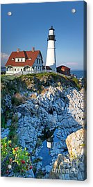 Portland Head Light Acrylic Print by Jane Rix