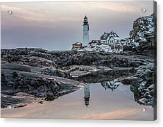 Portland Head Light Reflection Acrylic Print