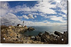 Portland Head Light Seascape Acrylic Print