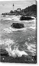 Portland Head Light Under Heavy Skies  -88356 Acrylic Print