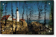 Portland Head Lighthouse 5 Acrylic Print by Sherman Perry