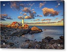 Portland Head Lighthouse At Sunset Acrylic Print by Rick Berk