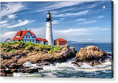 Acrylic Print featuring the painting Portland Head Lighthouse by Christopher Arndt