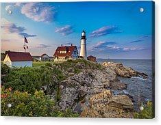 Acrylic Print featuring the photograph Portland Head Lighthouse by Cindy Lark Hartman