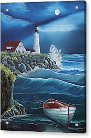 Portland Head Lighthouse Acrylic Print by Jerry McElroy