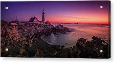 Acrylic Print featuring the photograph Portland Head Lighthouse Sunrise  by Emmanuel Panagiotakis