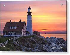 Portland Head Lighthouse Sunrise Acrylic Print
