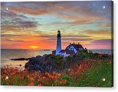 Portland Head Lighthouse Sunrise Acrylic Print