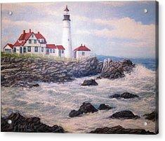 Portland Head Lighthouse Acrylic Print by William H RaVell III