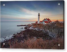 Acrylic Print featuring the photograph Portland Headlight by David Hufstader
