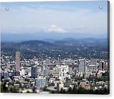 Portland In Perspective Acrylic Print