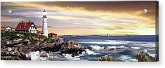 Portland Lighthouse Acrylic Print by Brent Borup