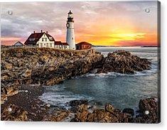 Portland Lighthouse Sunrise Acrylic Print