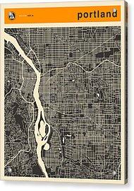 Portland Map Acrylic Print