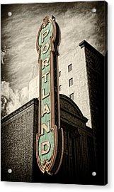 Portland Marquis Acrylic Print