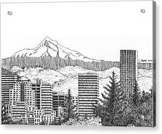 Portland-mt. Hood Acrylic Print