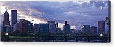 Portland Oregon Panorama Acrylic Print by Jonathan Davison