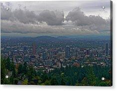 Portland Overlook Acrylic Print by Jonathan Davison