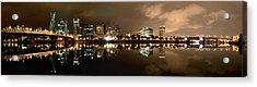 Portland Panorama Acrylic Print by Brian Bonham