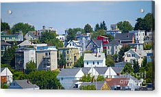 Portland Rooftops Acrylic Print by Faith Harron Boudreau
