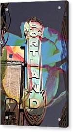 Portland Sign Acrylic Print by Cathie Tyler