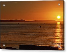 Acrylic Print featuring the photograph Portland Sunrise by Baggieoldboy