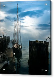 Portland Sunrise Acrylic Print by Bob Orsillo