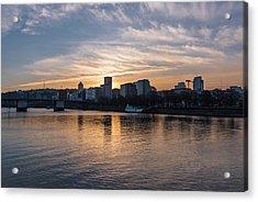 Portland Sunset Acrylic Print