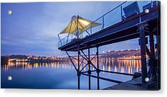 Porto Night Out Acrylic Print by Bruno Rosa