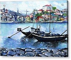 Porto Rabelo Boats Acrylic Print