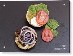 Portobello Mushroom Burger Acrylic Print