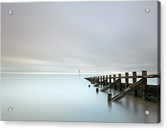 Acrylic Print featuring the photograph Portobello Sea Groynes by Grant Glendinning