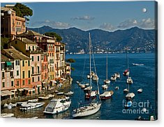 Portofino Italy Acrylic Print by Allan Einhorn