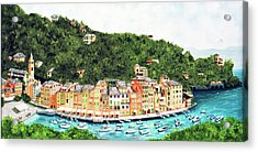 Portofino, Italy Prints From Myoriginal Oil Painting Acrylic Print