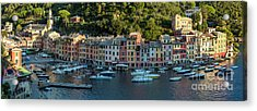 Acrylic Print featuring the photograph Portofino Morning Panoramic II by Brian Jannsen