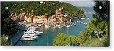 Portofino Panorama Acrylic Print by Cliff Wassmann