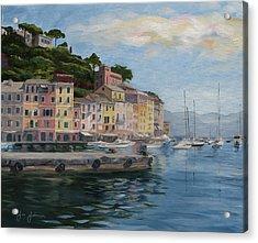 Portofino Port Acrylic Print by Jay Johnson