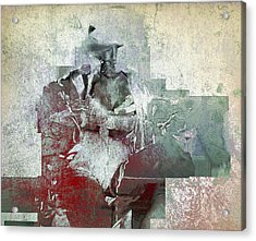 Acrylic Print featuring the photograph Portrait Abstract Variation #04 by Richard Wiggins
