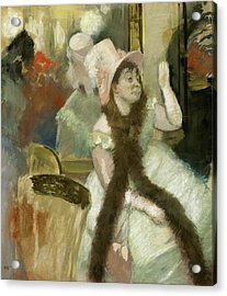 Portrait After A Costume Ball Acrylic Print by Edgar Degas