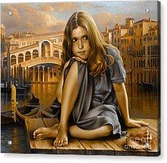 Portrait Acrylic Print by Arthur Braginsky