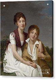 Portrait D'amelie-justine Et De Charles-edouard Pontois Acrylic Print